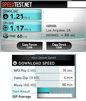Calculate ISP Bandwidth Speed