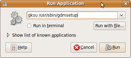 Fig: Press Alt+F2 to invoke Run Application window