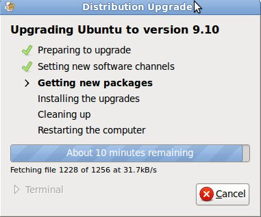 Ubuntu Upgrade Getting new packages