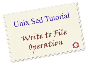 Sed Examples for writing to a file on Linux