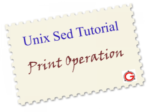 Unix Sed Tutorial: Printing File Lines using Address and Patterns