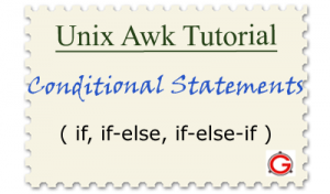 linux awk tutorials conditional if else statement examples