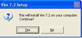 Vim Installation Confirmation