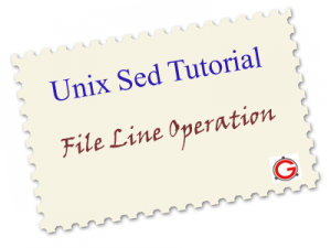 Unix Sed Tutorial: Append, Insert, Replace, and Count File Lines