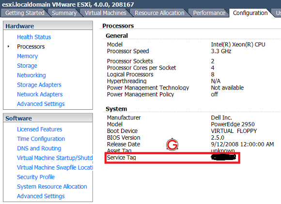 2 Ways to Get Dell Service Tag on VMWare ESXi Server Virtual Machine