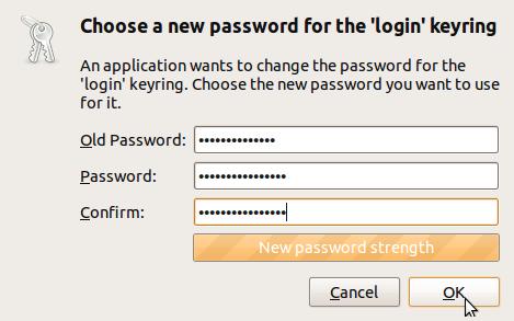 ubuntu passwords and keys command line