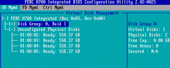 DELL Server: How To Create RAID Using PERC H700 Integrated BIOS