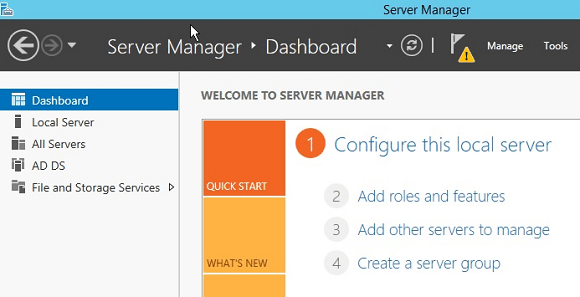 Windows Server Manager Dashboard