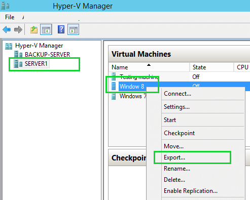 How to Import and Export Virtual Machine in Windows Hyper-V