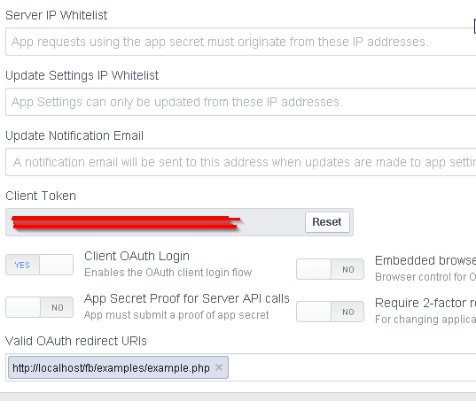 Facebook App Advanced Menu