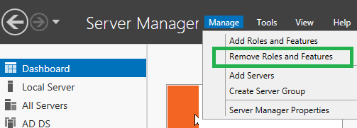 Windows Server Remove Roles