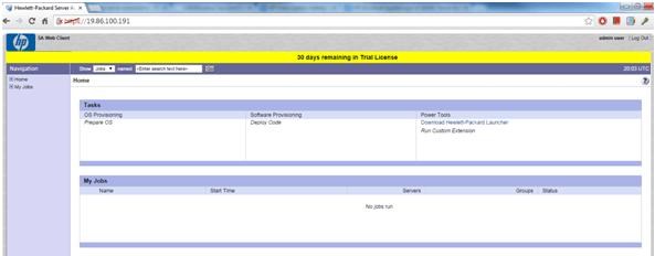 HPSA HP ServerAutomation WebClient