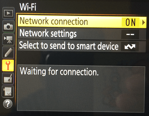 How to Enable Wi-Fi (NFC) on Nikon DSLR Camera