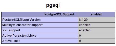 PHP pgsql Option