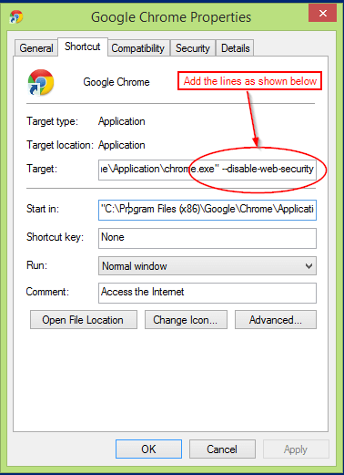 How to Disable Same Origin Policy on Chrome and IE browser