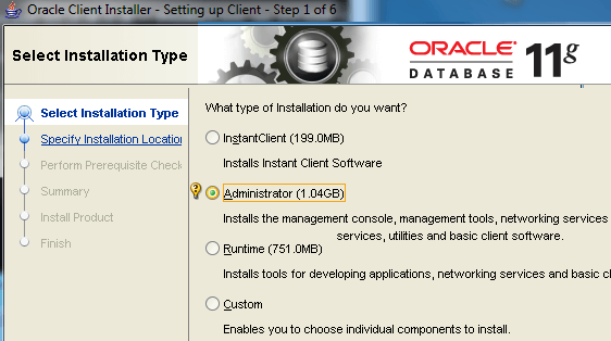 Oracle Client Install