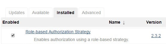Jenkins Role Based Authorization Strategy Plugin