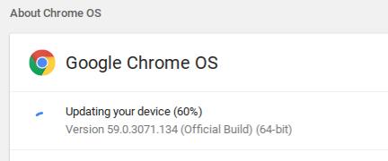 Chrome OS Update - Updating