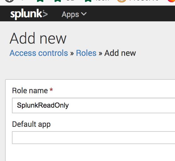 [Splunk Add Role]
