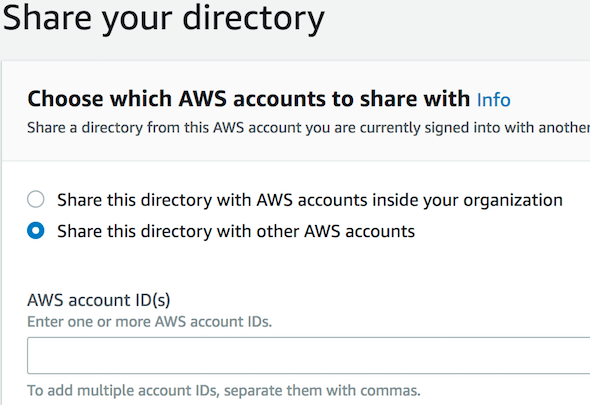 [AWS Managed AD Share Directory]