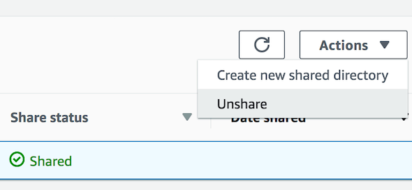 [Managed AD Unshare Directory]